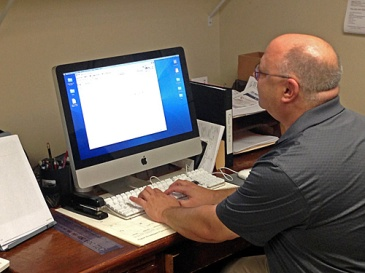 Doug at computer