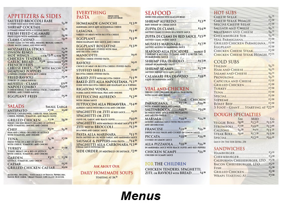 Samples-Menus