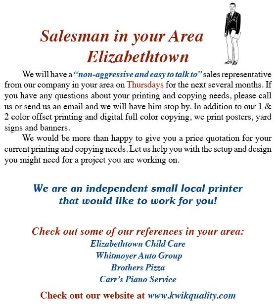 Salesman Insert E-Town